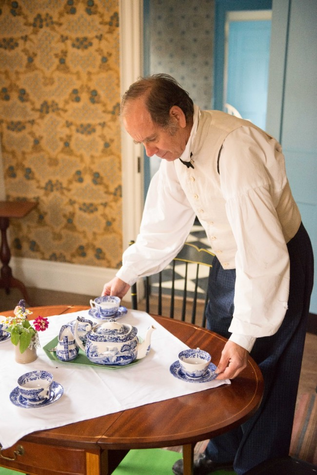 You and nine friends will enjoy a wonderful and historic tea in Hosmer's Inn.