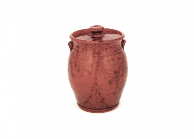 Redware  Covered Jar
