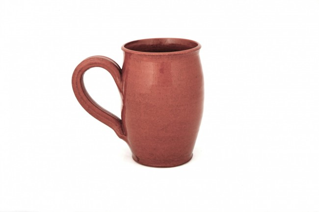 Redware Mug Round-Sided