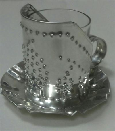 Tin Punched Votive Holder