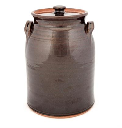 Albany Slip Glaze Covered Jar