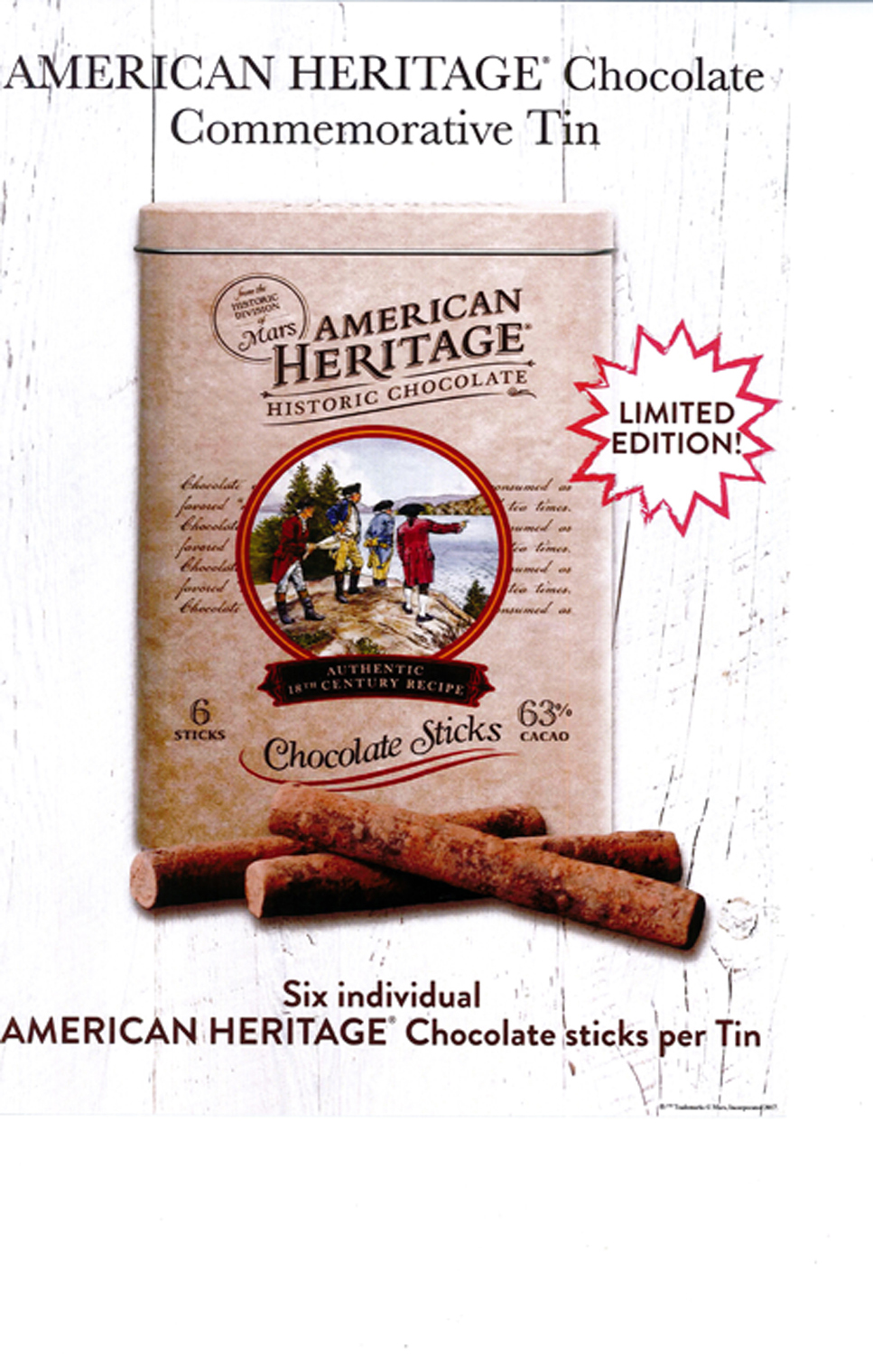 American Heritage Chocolate Collectible Tin